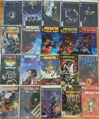 Lot of 20 Dark Horse Aliens Predator Universe Comics: Cold war, Prometheus, vs,