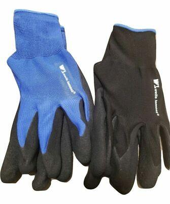 10x Work Gloves Foam Latex Wells Lamont 5 Pairs Size Medium
