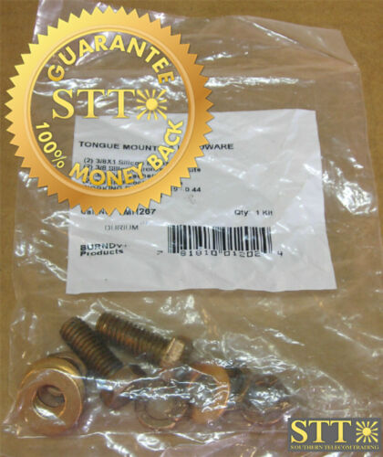 """Tmh267 Burndy Tongue Mounting Hardware Silicon Bronze 3/8 X 1"""" New"""