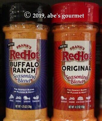 Franks Red Hot Buffalo (Frank's RedHot Seasoning Blends: Original 4.12 oz and/or Buffalo Ranch 4.75)