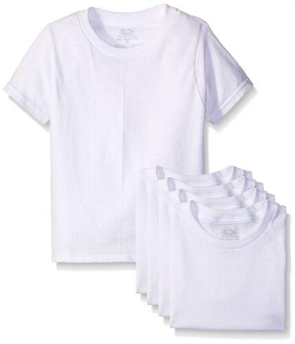 Fruit of the Loom Boys' White T-shirt, 5-pack
