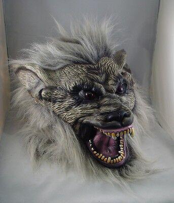 Grau Werwolf Latex Maske, Halloween, Kostüm, Unheimlich Wolf Werwolf Hund
