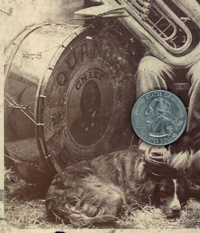 1890 INDIAN CHIEF QUANAH PARKER Quanah TEXAS FIRE DEPARTMENT BAND Station #1