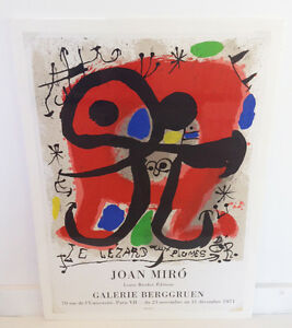 Original exhibition poster galerie berggruen paris 1971 surrealism