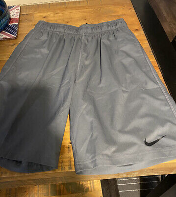 Men's Nike Dri Fit Shorts Training Football  Gym Sports Running Grey Large VGC