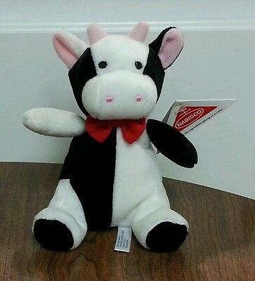 Nabisco Cookies The Cow Black White Beanbag Plush Doll Toy Stuffed Animal 7.5""