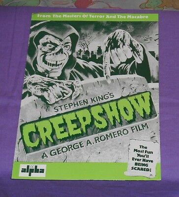 original CREEPSHOW U.K. PRESSBOOK Stephen King George A. Romero