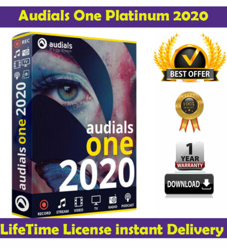 Audials One Platinum 2020 2.31.0✅ Lifetime LICENSE KEY  Fast Delivery 🔥 70% OFF