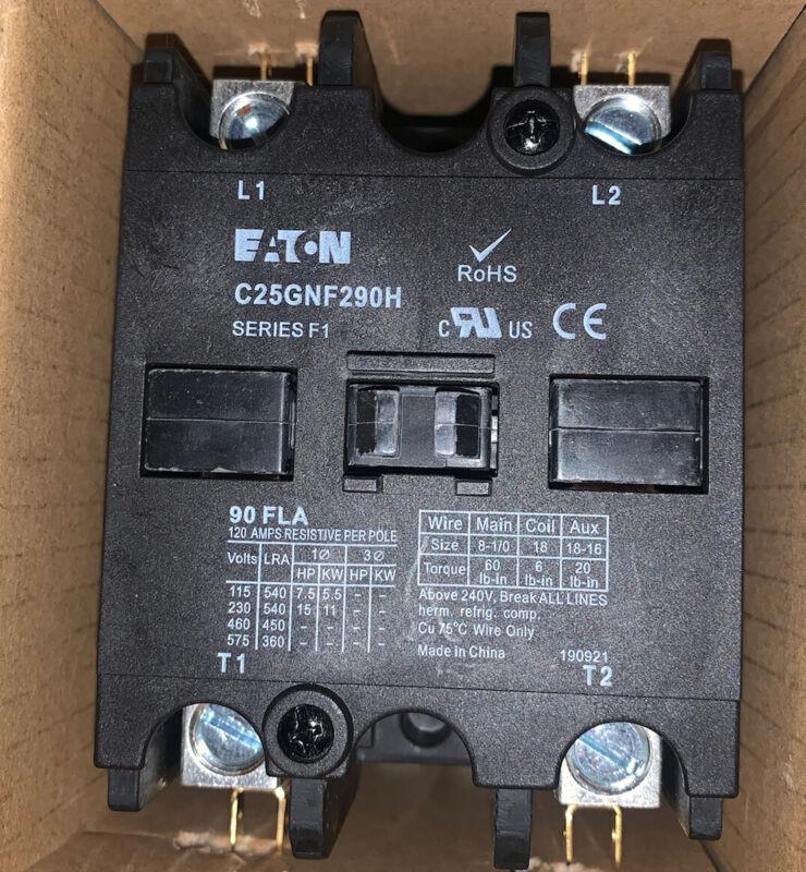 EATON C25GNF290H DEFINITE PURPOSE CONTACTORS 90 AMP 600 VOLT SERIES F1 NEW