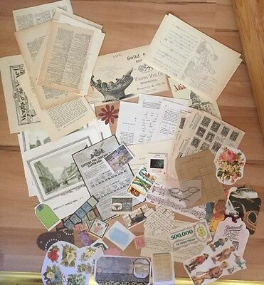 Vintage Papers, Adverts, Tags, Victorian Scrap, Tags, Kodak Slide And Much More