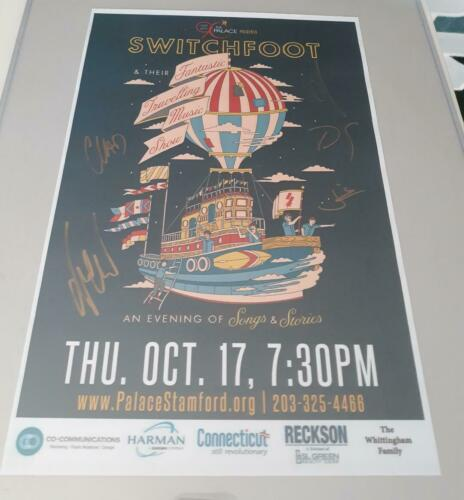 SWITCHFOOT Signed Autograph Concert Poster from 10/17/19 Concert