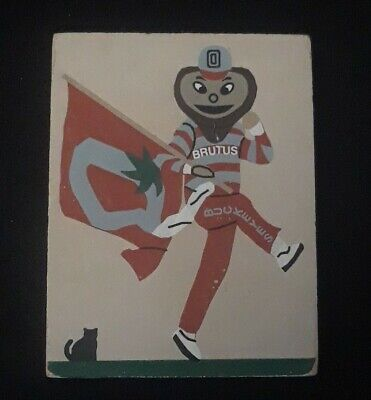 Cat's Meow Brutus Buckeye Ohio State University Mascot Columbus Ohio 1995 Wood