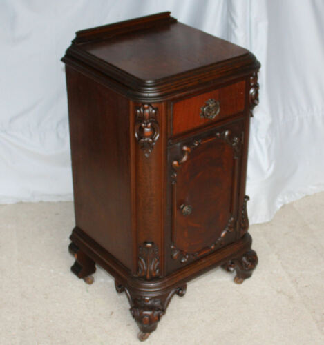 Antique Walnut half Commode or Night Stand