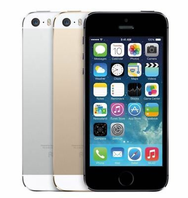 SELLER REFURBISHED APPLE IPHONE 5S 16GB 32GB 64GB GREY SILVER GOLD UNLOCKED SMARTPHONE ALL COLOURS