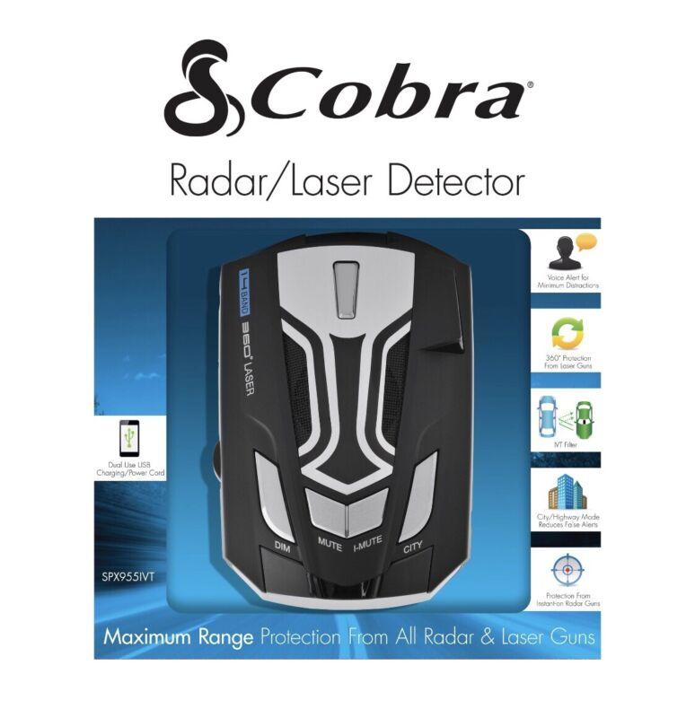 COBRA Radar Laser Detector LED Icons Voice In-Vehicle Technology SPX955 NEW