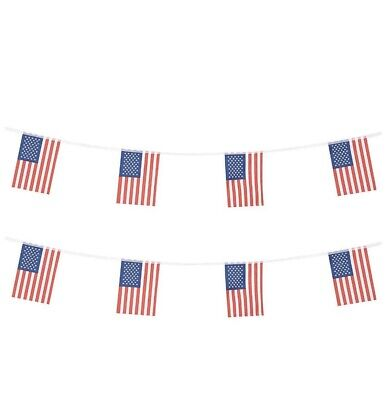 American Flags Banners String For Classroom Garden Festival Bar Party Decoration ()