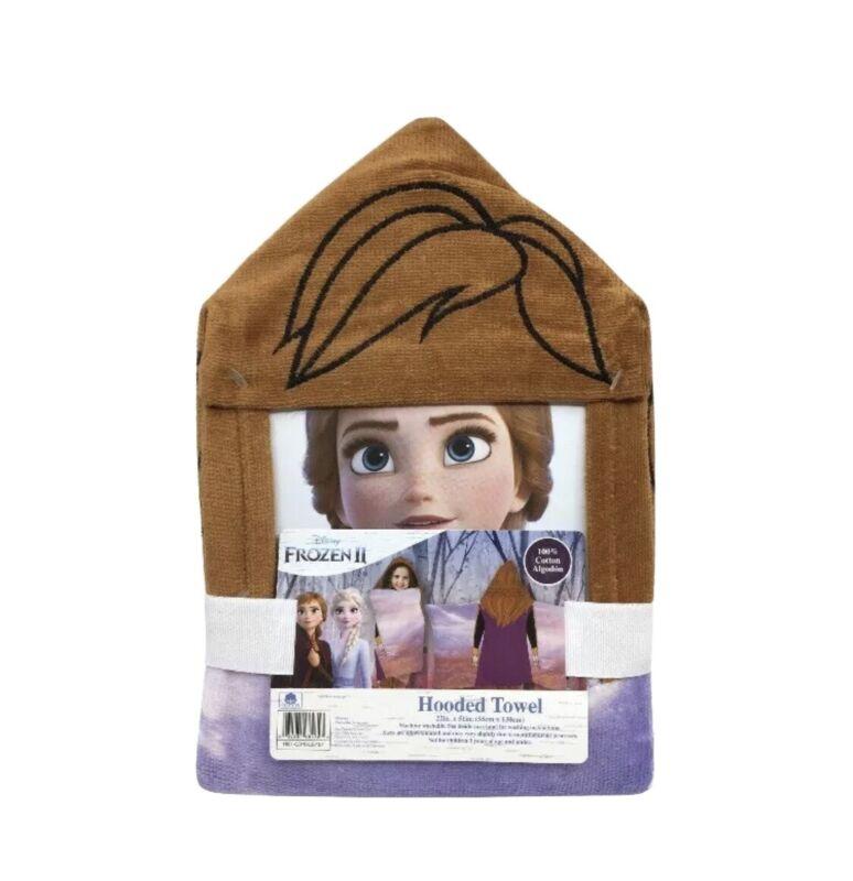 Disney Frozen II Elsa Anna Olaf Hooded Bath Towel NEW