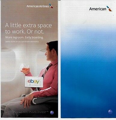 American Airlines Ticket Jacket New Livery 2013 Unused