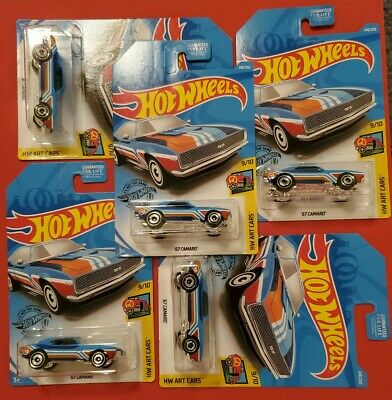 Hot Wheels 2019 Treasure Hunt 67 Camaro. Lot of 5.  # 248/250 Chevrolet