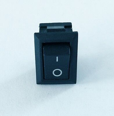 5 Mini Rocker Switch Latching Push Button Black Spst On Off 250v 6a 125v 10a