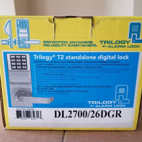 ALARM LOCK TRILOGY T2 DL2700/26D ELECTRONIC KEYLESS DOOR LOC