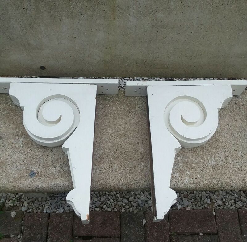 Pair of Vintage wood Corbels