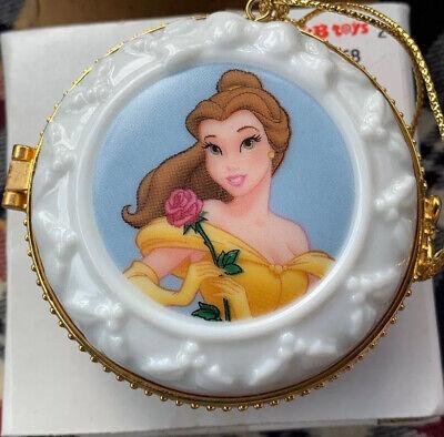 Disney Princess Belle Ornament Locket Christmas NEW in Box Promo Item KB Toys Christmas Ornament Locket