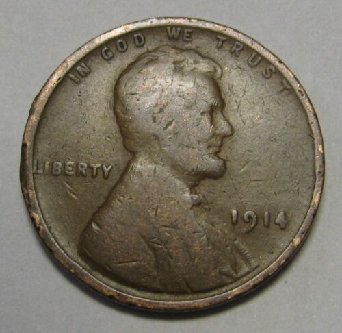1914 Lincoln Wheat Cent in Lower Grade Priced Right Free S&H Great Filler Coin