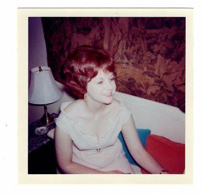 Vintage Photo Pretty Young Woman Red Hair 1960's Fashion Jul18