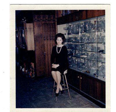 Vintage Photo Pretty Young Woman Black Hair 1960's Fashion Jul18