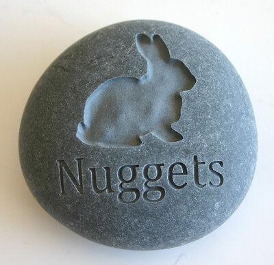 Rabbit Pet Memorial Custom Engraved Memorial Stone Pet Loss Personalized Bunny - CA$30.00