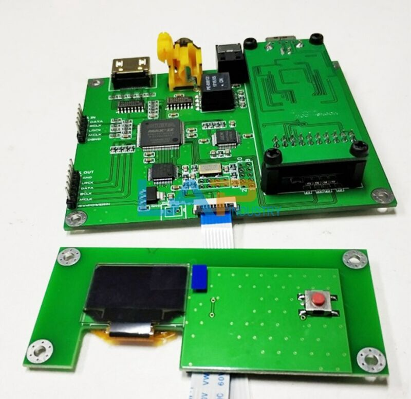 NEW For Amanero sampling rate display board AK4118 SPDIF I2S with xmos module