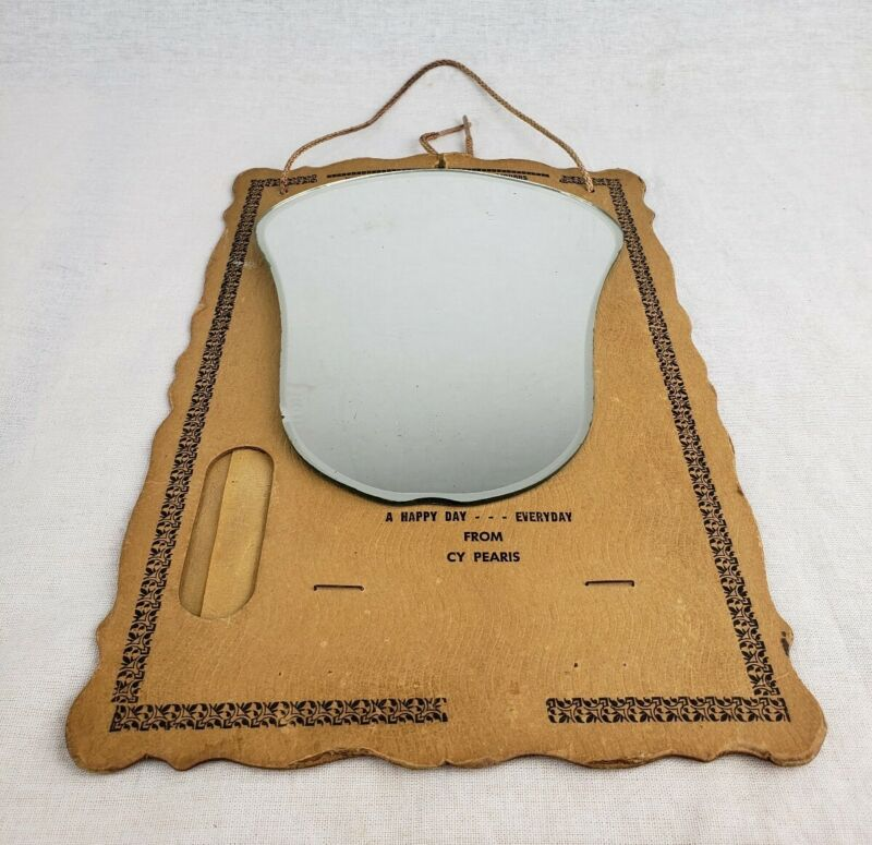 Vintage Wall Hanging CY Pearis Wine Liqour Advertising Mirror & Thermometer