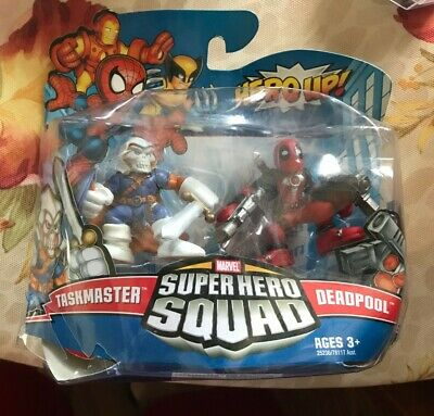 Marvel Super Hero Squad Sealed Wave 20: Deadpool (w/ Two Guns) & Taskmaster