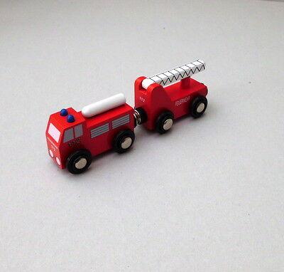 Hilfszug Feuerwehr Holzeisenbahn Zubehör