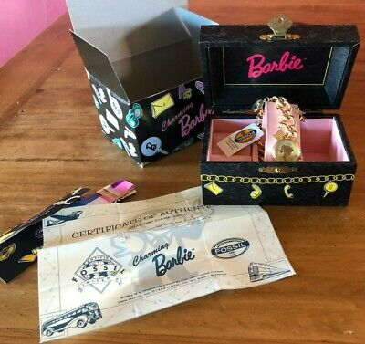 Charming Barbie Limited Edition 1994 Fossil Watch NIB w/tags & COA