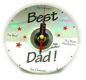 Best DAD CD Clock Desk Clock Fathers DAY Birthday Gift ...