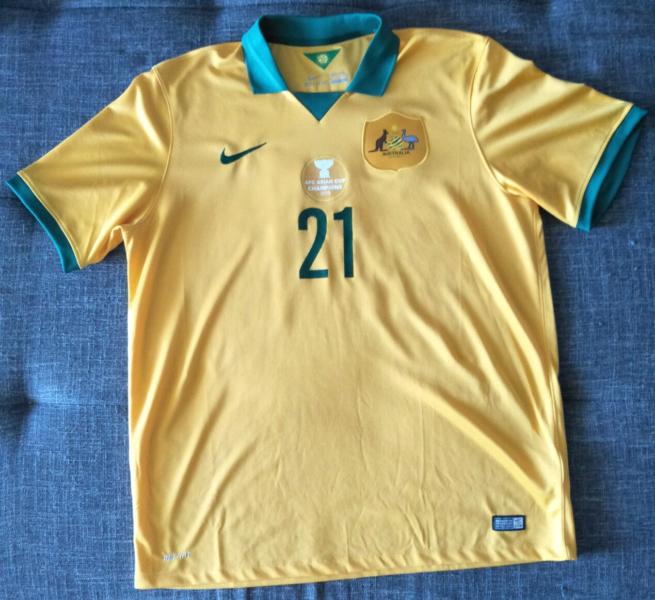 Socceroos 2015 Asian Cup Winners Jersey  d6f5e9ea7