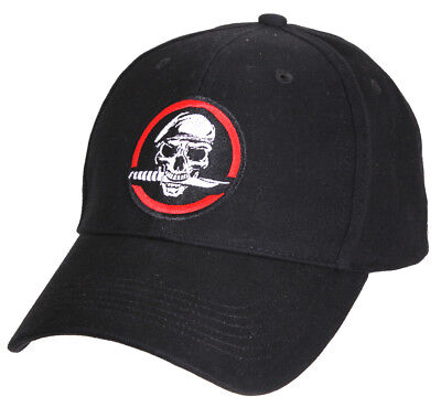 Special Forces Hat Skull Knife Soldier Ballcap Baseball Cap Black Rothco - Soldier Hat