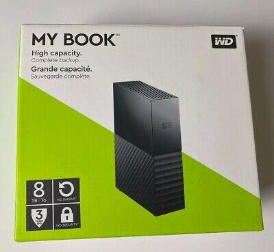 "WD Western Digital My Book 3.5"" 8TB External Hard Disk Drive (WDBBGB0080HBK)"