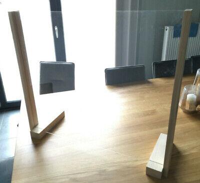 stabiler Spuckschutz aus massivem Holz Glashalter Thekenaufsatz Schreibtisch