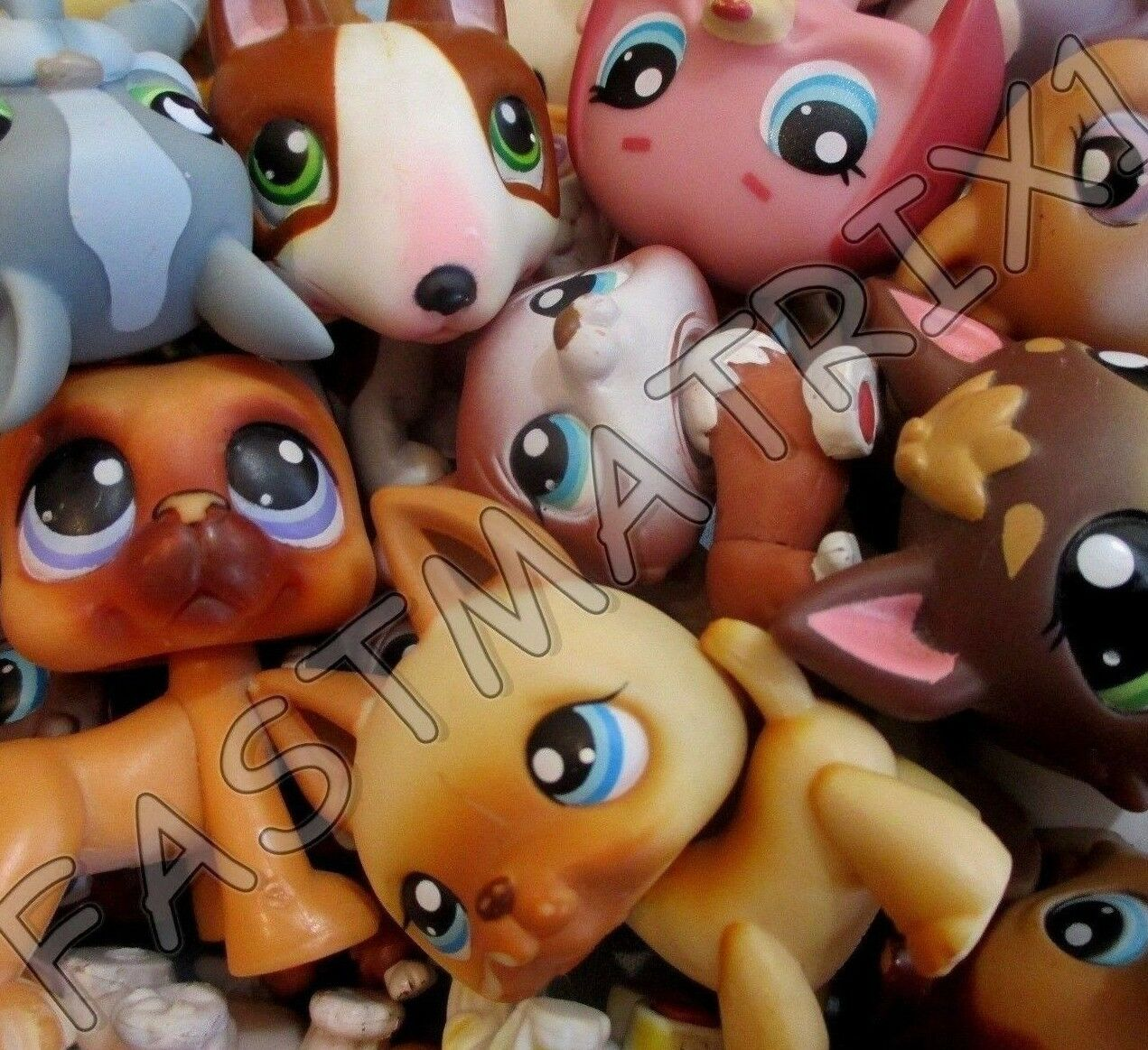 Littlest Pet Shop Lot of 3 Random Surprise Blemished Puppy Dogs Authentic Lps