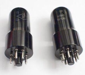 2X 6V6GT 6P6S Matched Pair Elektrodenröhre Röhre Tubes Fender Röhrenverstärker