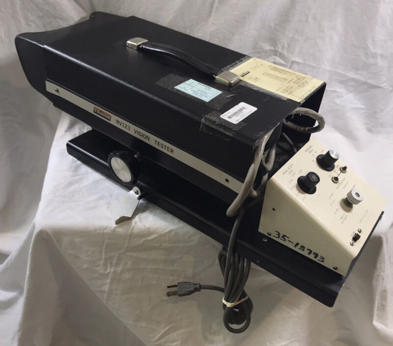 Vintage Vision Tester TRACOR RV123 Optometry Optical Visual Acuity Screener