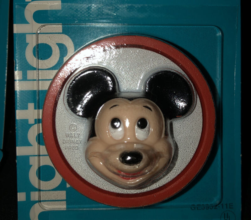 1970's NOS Lot Of 5 Vintage GE Mickey Mouse Night Light MIP In Orig. Case WDP