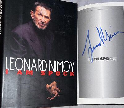 SIGNED Leonard Nimoy I Am Spock 1st ED. Hardcover Book Hc DJ 1995 Star Trek