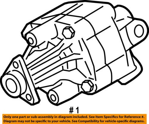 Audi Oem 04 06 A8 Quattro Power Steering Pump 4e0145155n