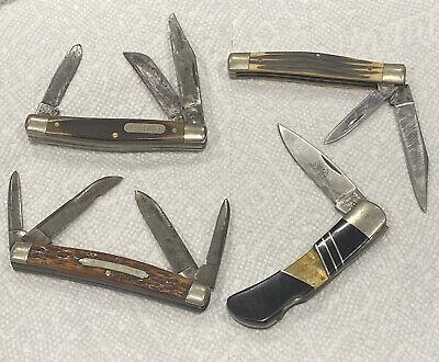 VTG lot 4 small pocket knifes old timer schrade Keen Kutter Camillus