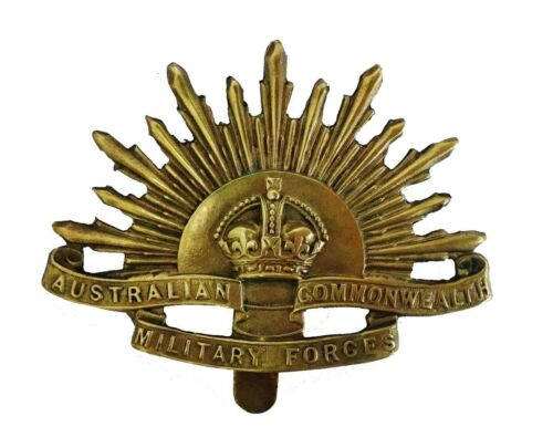 Australian Commonwealth Forces Cap Badge Brass Metal