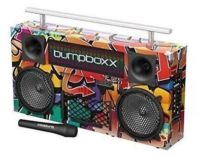 BUMPBOXX FREESTYLE GRAFFITI WITH POWER CORD MICROPHONE BAG WITH CARRYING BAG
